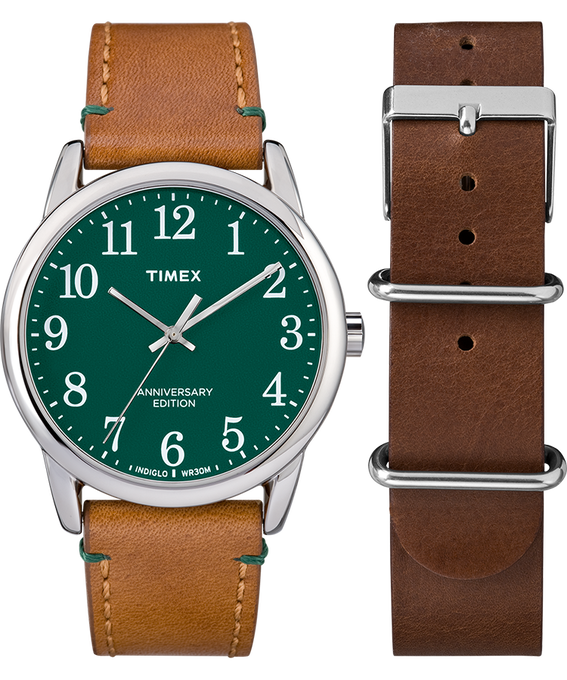 Easy Reader 40th Anniversary Special Edition Tan Strap/Green Dial Gift Set  large