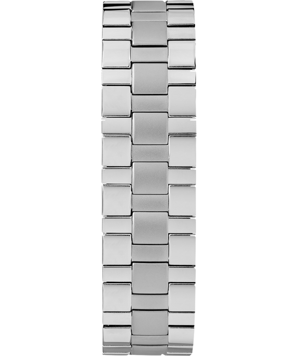 Easy Reader Date 38mm Expansion Band Watch Chrome/Silver-Tone/White large