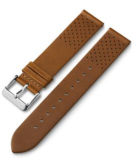 20mm Quick Release Leather Strap with Perforations Tan large