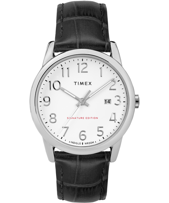 Easy Reader Signature 38mm Leather Watch with Date
