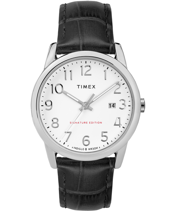 Easy Reader Signature 38mm Leather Watch with Date  large