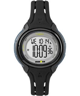 IRONMAN Sleek 50 Mid 38mm Silicone Strap Watch Black/IP-Gun large