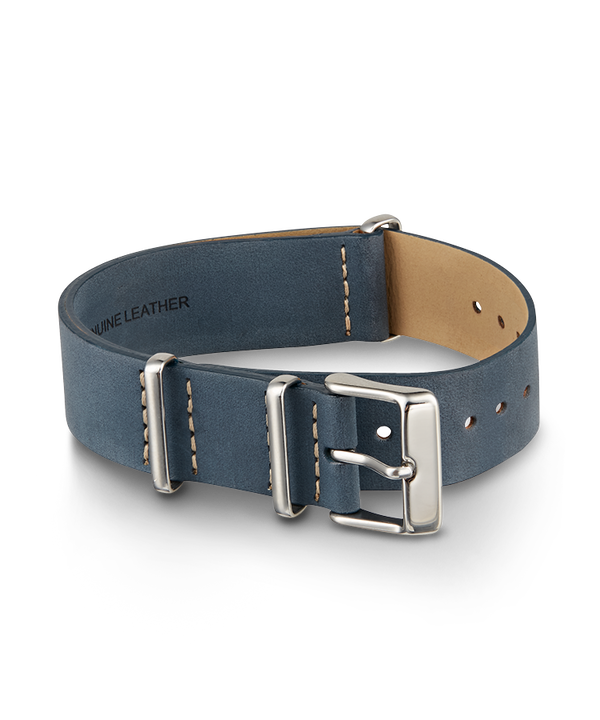 20mm Leather Strap Blue (large)