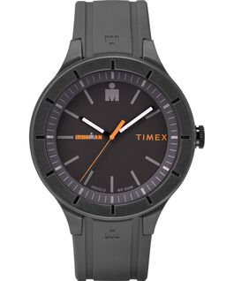 IRONMAN 43mm Silicone Strap Watch Gray/Orange large