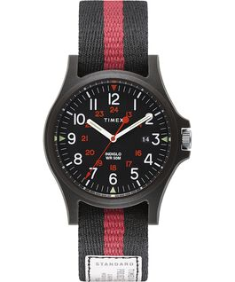 Acadia 40mm Fabric Strap Watch Black large