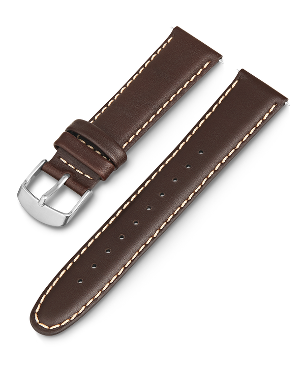 20mm Leather Strap with White Stiching  large