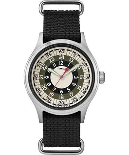 Timex x Todd Snyder MOD Inspired 40mm Fabric Strap Watch Silver-Tone/Black/White large