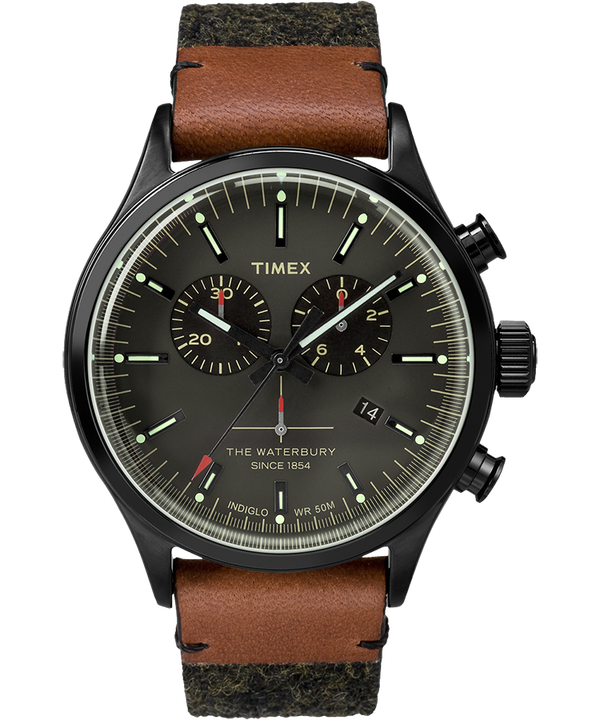 Waterbury Traditional Chronograph 42mm Felt with Leather Watch  large