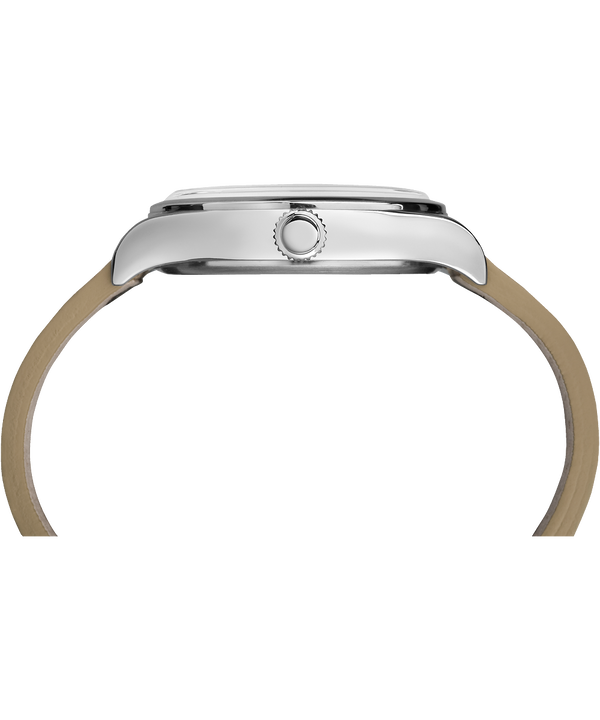 Waterbury Traditional 40mm Leather Strap Watch Stainless-Steel/Tan/Natural (large)