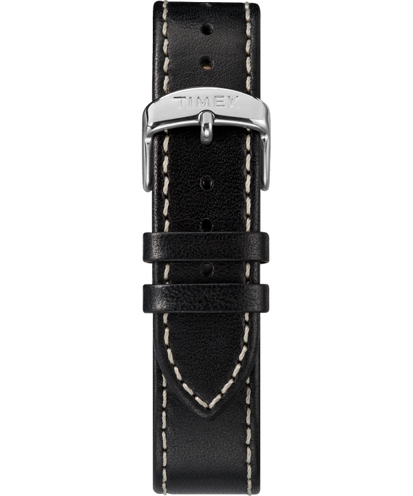 20mm Leather Two-Piece Strap Black (large)