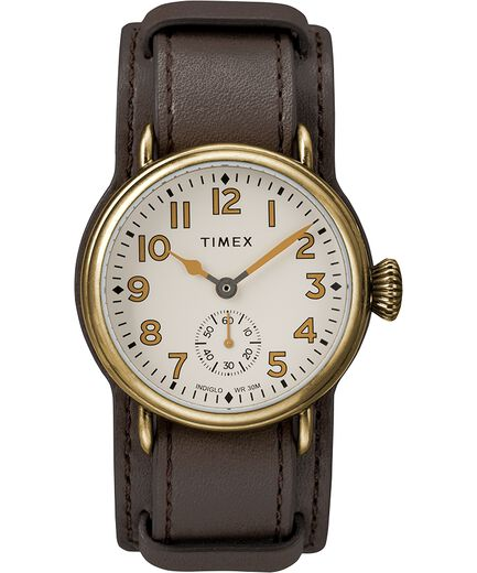 4e81515d21 Welton 38mm Leather Strap Watch Bronze-Tone/Brown/Cream large