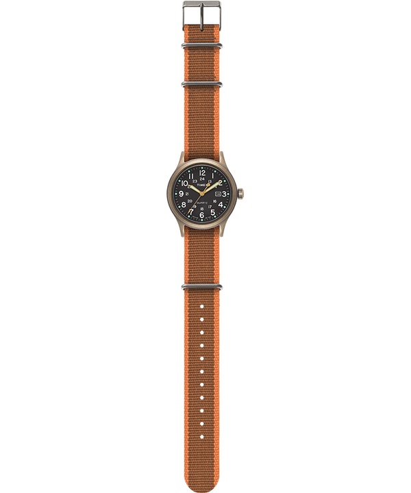 Allied 40mm Fabric Strap Watch Bronze-Tone/Black large