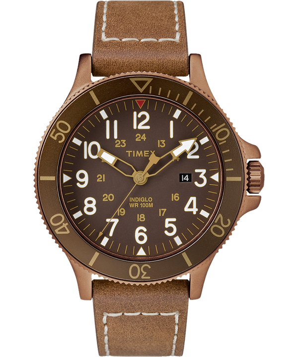 Allied Coastline 43mm Leather Watch  large