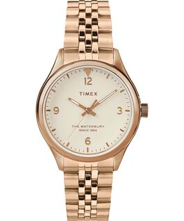 Waterbury Classic 34mm Watch Stainless Steel Rose-Gold-Tone/Cream large