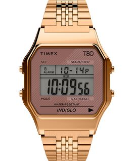 Timex T80 34mm Stainless Steel Bracelet Watch Rose-Gold-Tone large