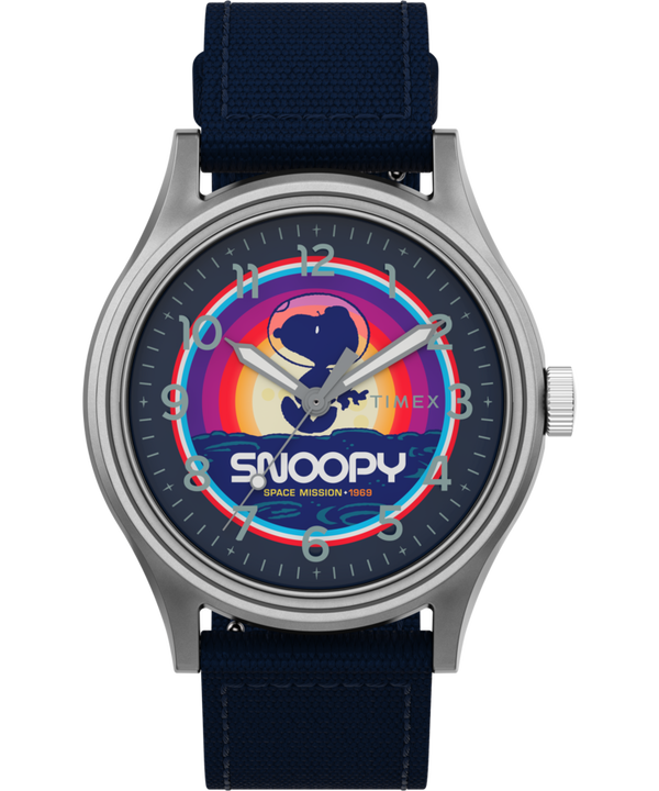 Timex x Space Snoopy MK1 Steel 40mm Fabric Strap Watch  large