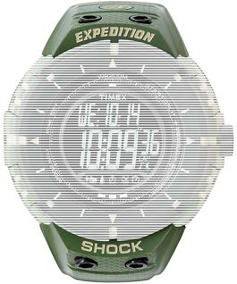 Replacement 14mm Resin Strap for Expedition Shock  Green large