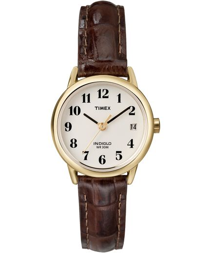 9846588de Easy Reader 25mm Leather Strap Watch Gold-Tone/Brown/Natural large