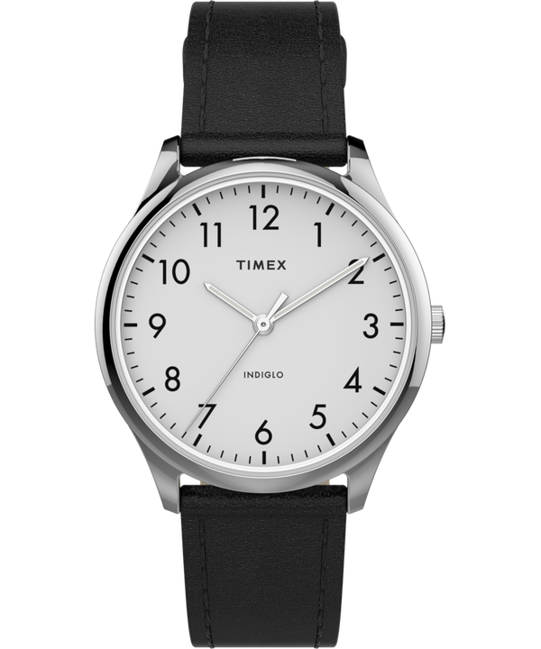 Modern Easy Reader 32mm Leather Strap Watch  large