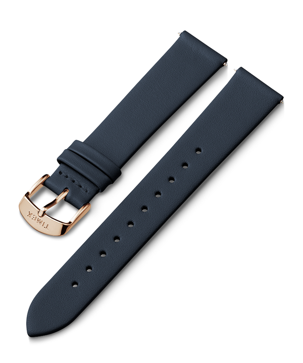 18mm Leather Strap Blue large