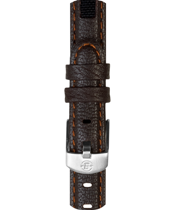 12mm Mens Leather Strap Brown large