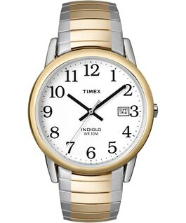 Easy Reader 35mm Stainless Steel Watch with Date Two-Tone/White large