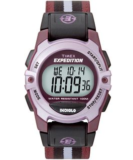 Expedition Chrono-Alarm-Timer 33mm Nylon Strap Watch Purple large