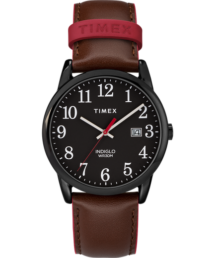 c72d2b4a44b3 Easy Reader Color Pop 38mm Leather Strap Watch Black Brown large