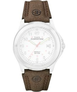 Replacement 20mm Leather Strap for Expedition Metal Field Brown large
