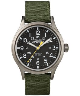 Expedition Scout 40mm Fabric Strap Watch Gray/Green/Black large