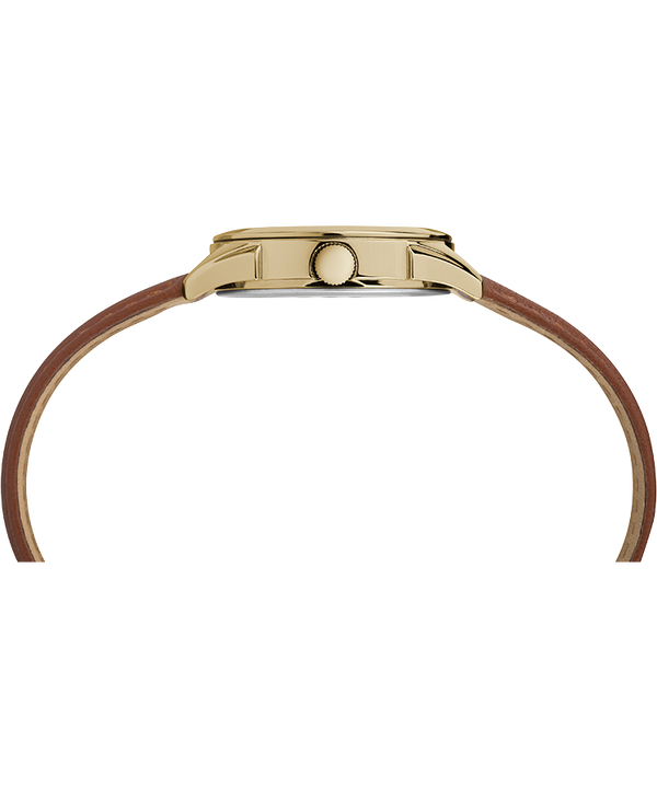 Torrington Women's 3-Hand 27mm Leather Strap Watch Gold-Tone-Brown-Silver-Tone large