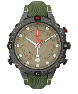 Allied 45mm Fabric Strap Watch Gunmetal/Tan large