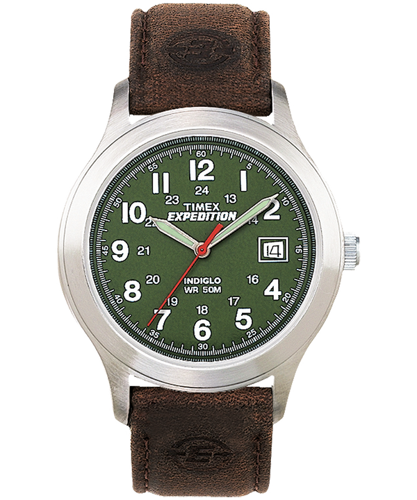 Expedition Metal Field 39mm Leather Watch  large