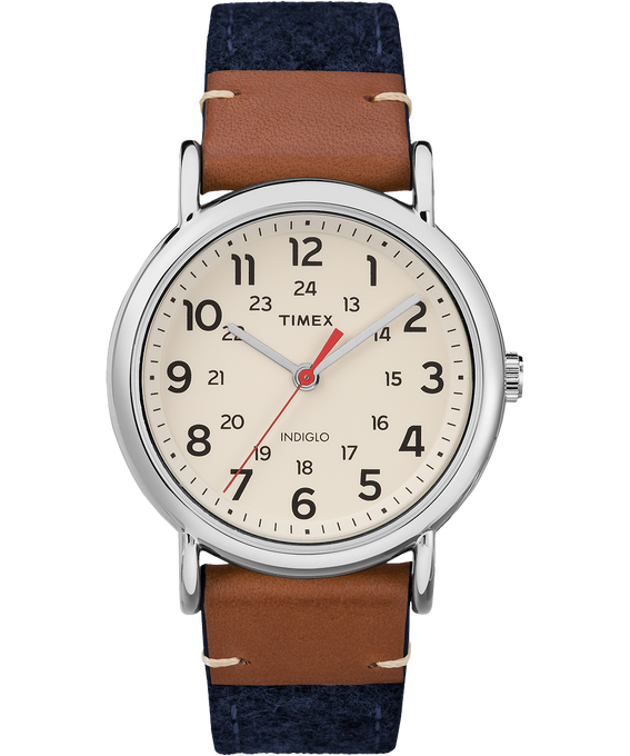 Weekender 38mm Fabric with Leather Watch  large
