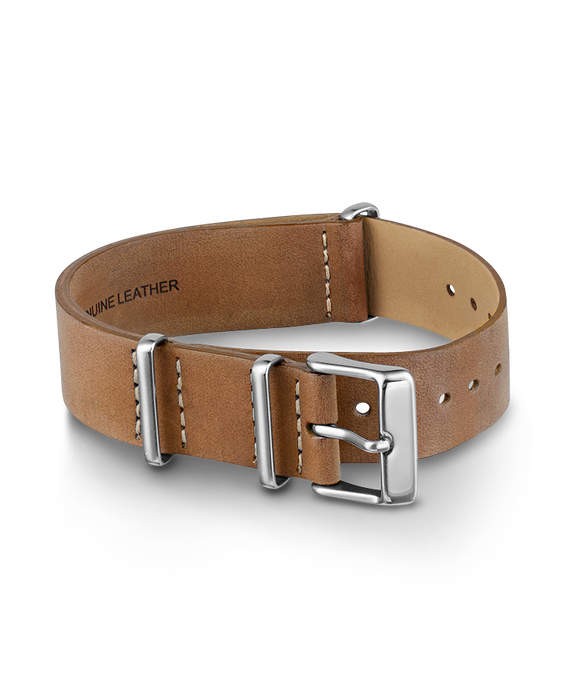 20mm Slip Thru Leather Strap 1  large