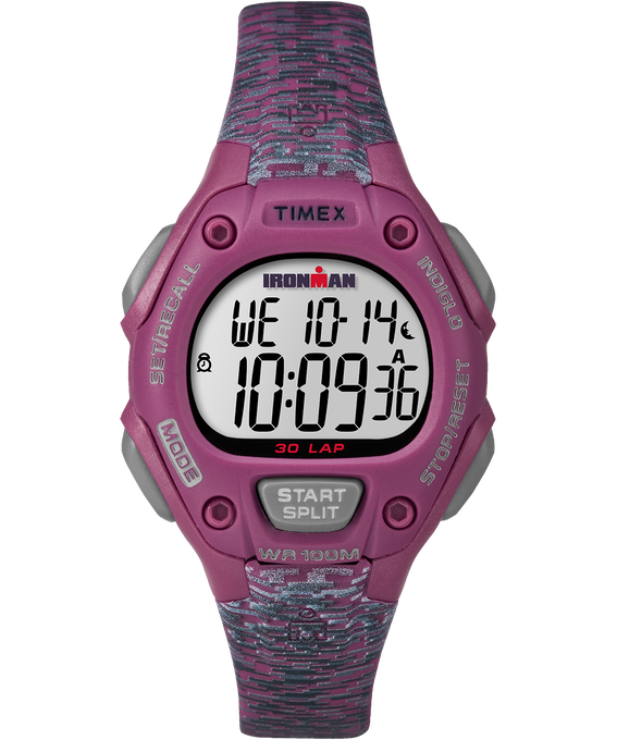 IRONMAN Classic 30 Mid-Size 34mm Patterned Resin Strap Watch Pink/Gray large