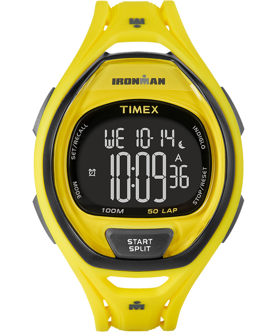 IRONMAN Sleek 50 Full-Size 42mm Resin Strap Watch Yellow/Black large