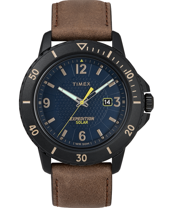 Expedition Gallatin Solar 44mm Leather Strap Watch  large
