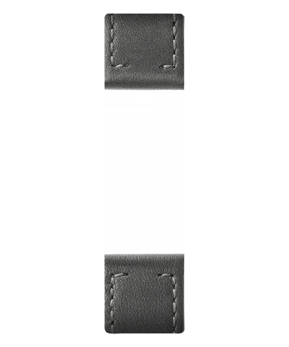 Gray Leather 2-piece Strap  large