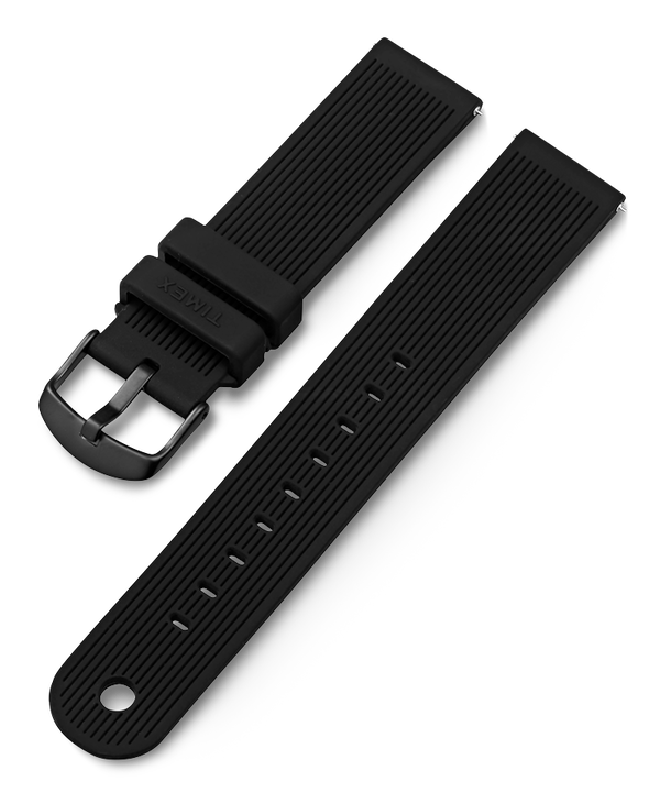 20mm Silicone Strap Black large