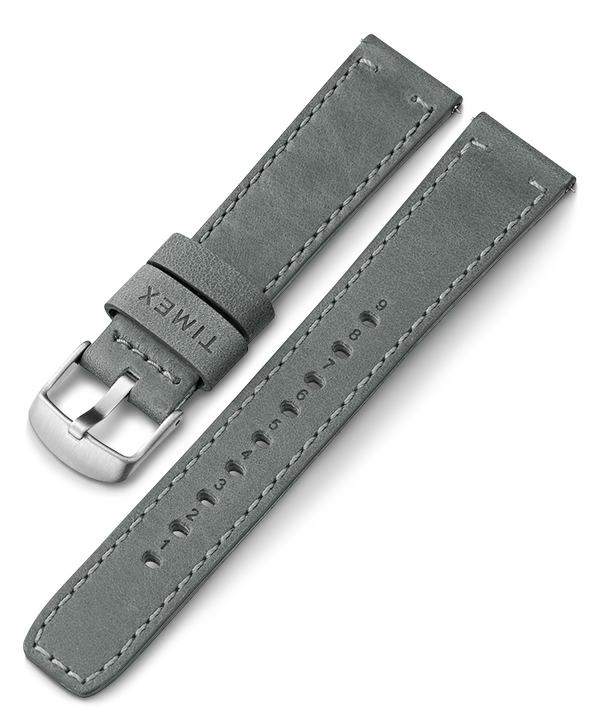 20mm Quick Release Leather Strap Gray large