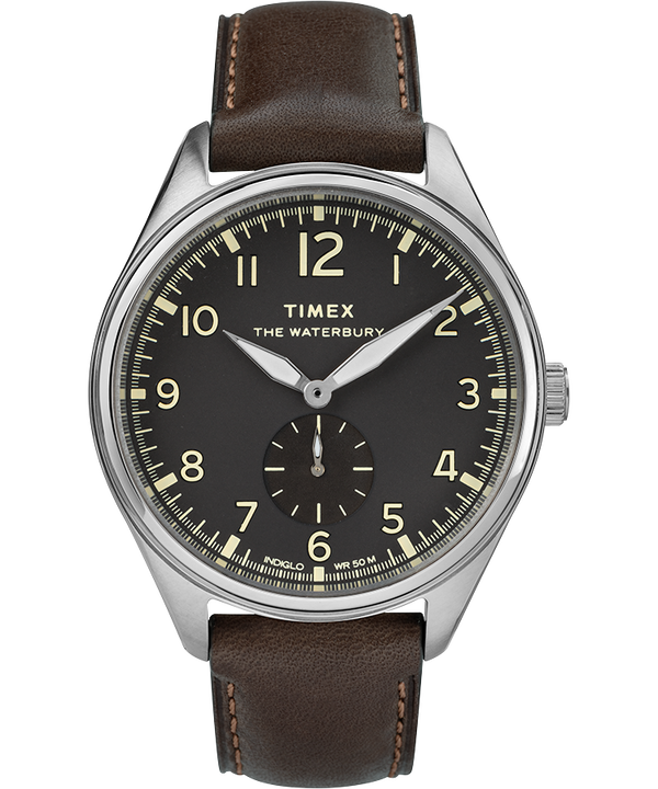 Waterbury Traditional Sub-Second 42mm Leather Strap Watch  large