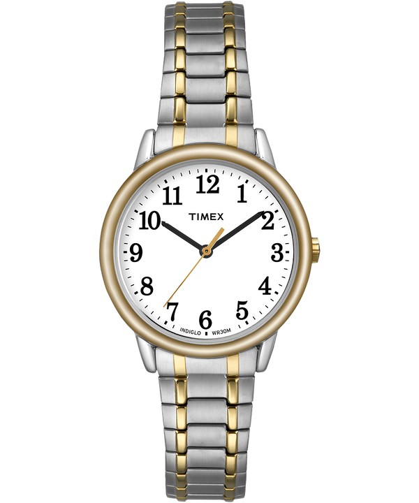 Easy Reader 30mm Expansion Band Watch Two-Tone/White large