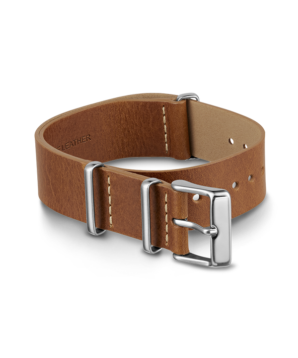 20mm Slip Thru Leather Strap  large