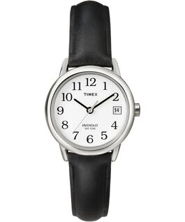 Easy Reader 25mm with Date Leather Watch Silver-Tone/Black/White large
