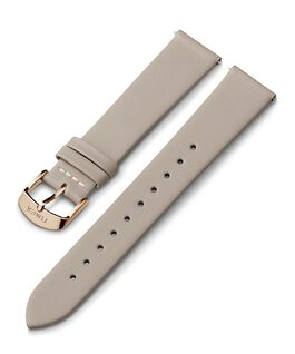 20mm Rose Gold Tone Buckle Leather Strap Gray large