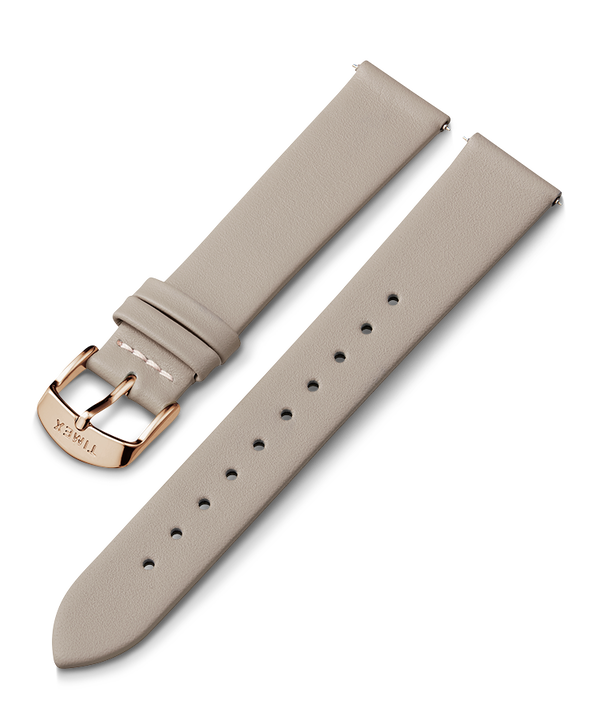 20mm Leather Strap Gray large
