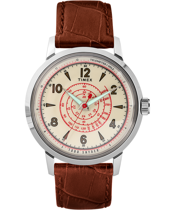 Timex x Todd Snyder Beekman 40mm Leather Strap Watch  large