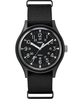 MK1 Aluminum 40mm Nylon Strap Watch Black large
