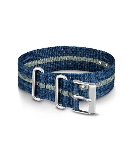 20mm Nylon Striped Strap Blue large